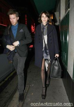 Coat: Charles Anastase Dress: Christopher Kane Scarf: Burberry Shoes: Prada Bag: Celine