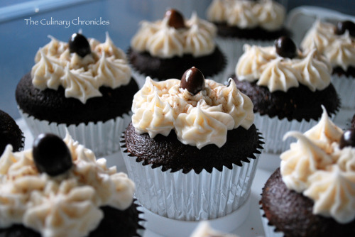 Chocolate Espresso Cupcakes with Mocha Buttercream. A nice bit of caffeine in this delicious treat! Yum. Get the recipe at The Culinary Chronicles.