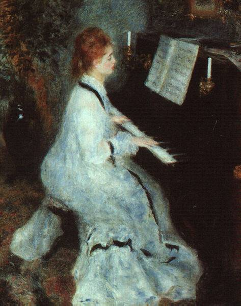 """Lady at Piano"" By Renoir (aka Renuá)Note: Cézanne!!!"