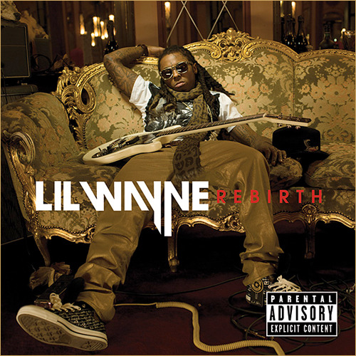 "Lil' Wayne - Rebirth Right off the bat, I'm gonna go ahead and sacrifice some of my bountiful street cred and admit that this is not the first time I've listened to this record (hell, it's not even the second time). My fascination with this album is akin to Weezer's much-maligned Raditude (an album I also exhausted around the same timeframe, to everyone's chagrin), as Raditude was an album about partying written by someone who has ostensibly never been to a party. In the same sense, Rebirth is a rock album written by someone who has a less than tenuous grasp on rock music. I think I just find high-profile artists operating on delusion of that magnitude fascinating. Recently, I compared Odd Future to Young Money in terms of the collective aspect in the modern musical landscape, and I think that the reason Young Money can't exist in the same spectrum as Odd Future is the same reason why Rebirth is so unsuccessful. Wayne is an insider longing to be an outsider; his existence seems to be oriented toward convincing people he's really fucking weird (I imagine him consulting with his entourage about what thing he can do next to make people talk about how crazy he's going, a la Tracy Jordan), but because he exists so far inside of the mainstream, he has no connection with the fringe in the same way that Odd Future or someone of that ilk does. Some of his ideas about what's out there are just made up, some of it just rips off Miley Cyrus, and some of it is surprisingly spot-on (""The Price is Wrong"" even dials down the super-polished production in favor of a sound that almost comes straight out of Inner Ear Studios, which actually kind of works for the album's ""punk"" track). I can't even sit here and tell you that the album is unlistenable (though parts of it are). Wayne has an unmistakeable ear for clean production and catchy tunes, but as much as that works in his favor, it's also detrimental to the ""dangerous"" sound he attempts to craft on Rebirth. He's appropriately melodramatic on the ballads, puts on his best snarl for the ""harder"" tracks, and where stuff like ""Knockout"" and ""Drop the World""s Eminem guest verse are supremely wonky, Wayne smartly runs the gamut of popular rock music, stretching from Fall Out Boy-esque pop-punk licks to new wave synths to uber-bombastic arena rock anthems. The point still remains though that he made this album too far inside. I would love to see what a group like Odd Future would do with this tableau, someone with a clearer view on the outside of musical culture."