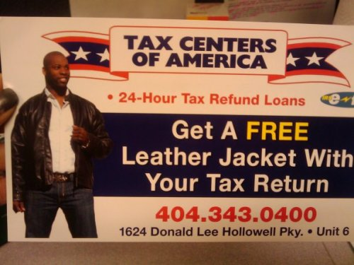 Get a FREE leather jacket when you file your income taxes this year !!