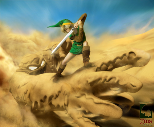 Link VS Geldman -Zelda Relived by *pikminlink