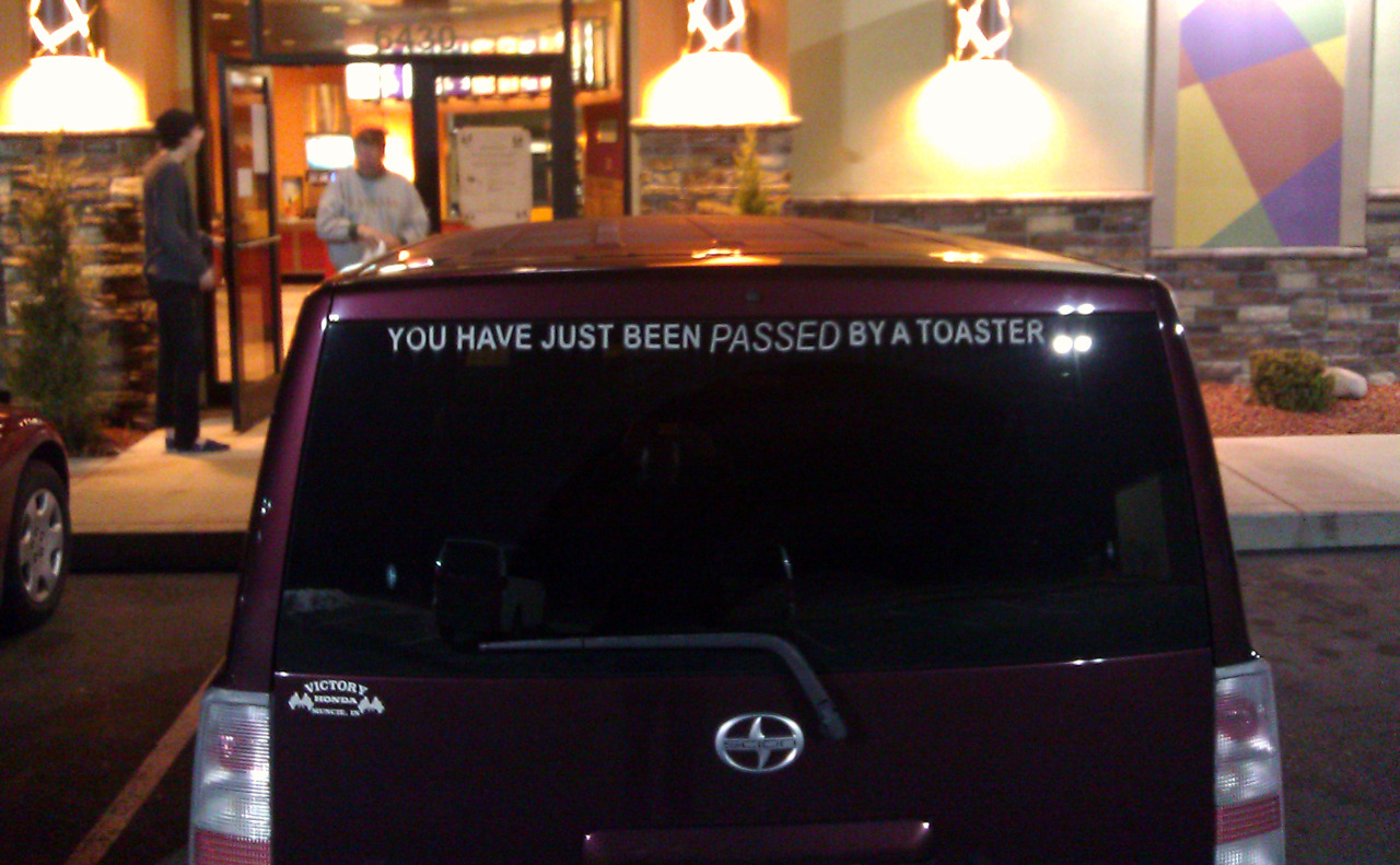 passed by a toaster