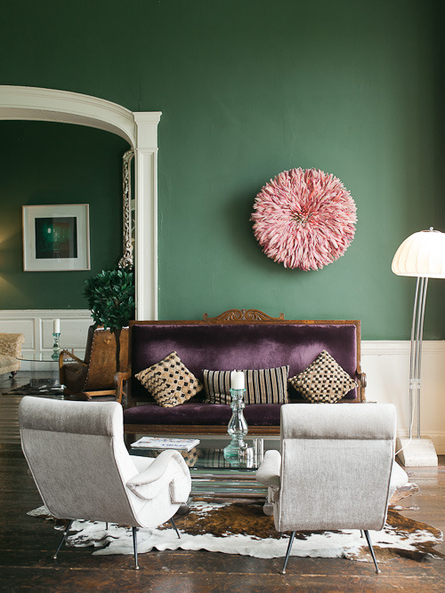 Green with Pinks and Purples | FROM THE RIGHT BANK