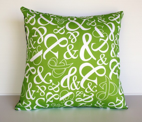 childlikefascination:  OMG I love ampersand's too! Organic cotton Ampersand typography cushion by mybeardedpigeon PS. You can find similar ampersand fabric on spoonflower.com