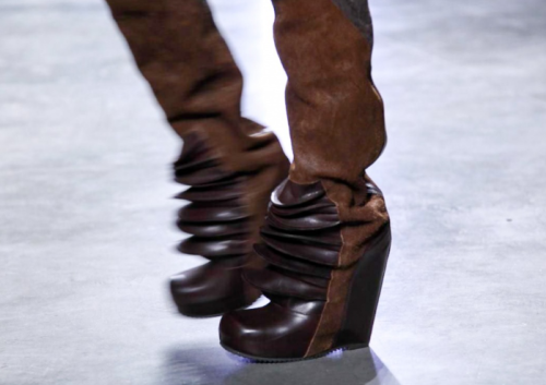 Rick Owens. Antigravity Pleats. These are truly genius. Make them in silver and I have new space boots.