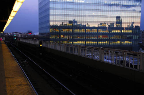 "wonderthunder:   A scene from Queensboro Plaza: A Manhattan-bound 7 train has given the ""stand clear of the closing doors"" warning as a man is walking up the steps. Upon hearing the announcement he starts running and shouts, ""Hey!!"" Wait! Wait for me!"" The train does not pull away. He returns to walking, and quietly repeats,  ""Wait for Tom."""