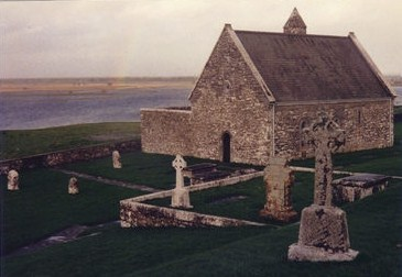 athousandwinds:    Clonmacnoise, monastic settlement on the banks of the Shannon River in County Offaly, Ireland. Founded by St.Ciaran, 545-548, and a place of pilgrimage.   Photograph by A Thousand Winds.