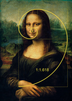 "bugsyrafael:  Mona Lisa (also known as La Gioconda or La Joconde)  is a 16th century portrait painted in oil on a poplar panel by Leonardo  da Vinci during the Italian Renaissance. The work is owned by the  Government of France and is on the wall in the Louvre in Paris, France  with the title Portrait of Lisa Gherardini, wife of Francesco del  Giocondo. It is perhaps the most famous and iconic painting in the  world. Prevalent in the major works of Leonardo Da Vinci and  underlying many of his design compositions, is the phi relationship  (also known as the Golden Ratio or the Golden Mean), a ratio of  approximately 1:1.618, found in nature and creation, and inherent  in the Fibonacci sequence. The Golden Rectangle, the Golden Triangle,  and the Golden Pyramid, all based on the Golden Ratio are all appear  prominent in the work of Leonardo Da Vinci. He referred to the Golden  Ratio as the ""divine proportion"". But this is what's really cool:  Certain solar system orbital periods and relative planetary distances  are also related to phi. Some scientists say that the shape of the  universe itself is a dodecahedron based on Phi. Here you can find some  mind-blowing facts: goldennumber.net/solarsys.htm"