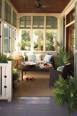 daydreamsandinspiration:  I want to live in a place with a sunroom like this. I don't think I'd ever leave.