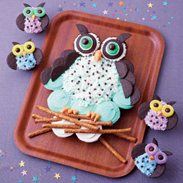 dandelionsarepretty:  Cupcake Cakes: Night Owls | Recipes | FamilyFun