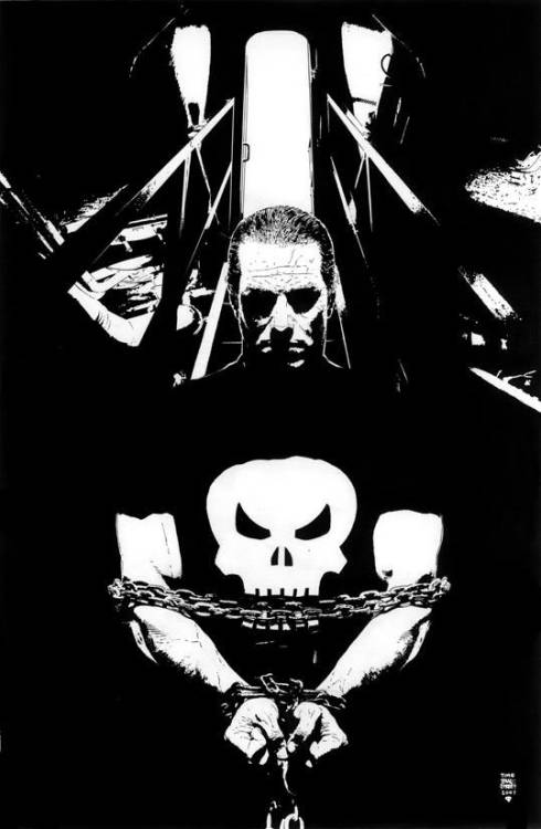 B&W Punisher by Tim Bradstreet.