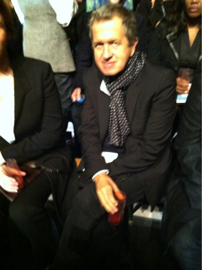 On the other side of the lens: Mario Testino at Lanvin #PFW