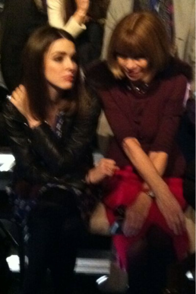 Anna Wintour and Bee Schaffer #Lanvin #PFW
