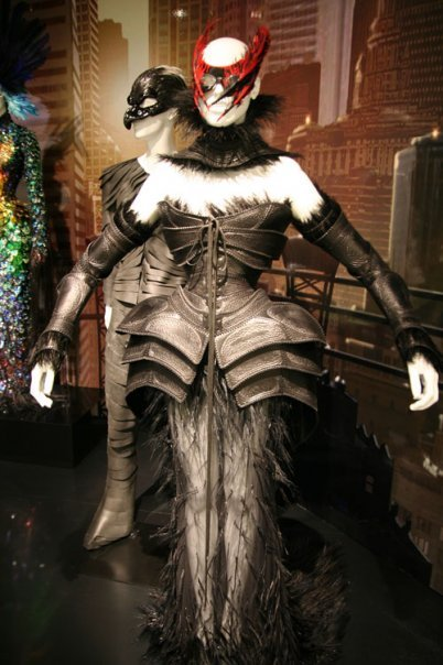 "Thierry Mugler's ""Carapace"" leather dress on display at the 2008 Met ""Superheros: Fashion and Fantasy"" exhibit"