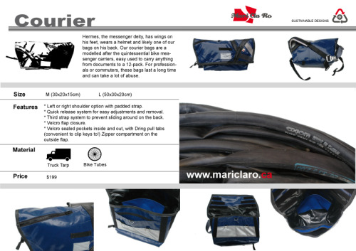 And this is our new Courier Bag!