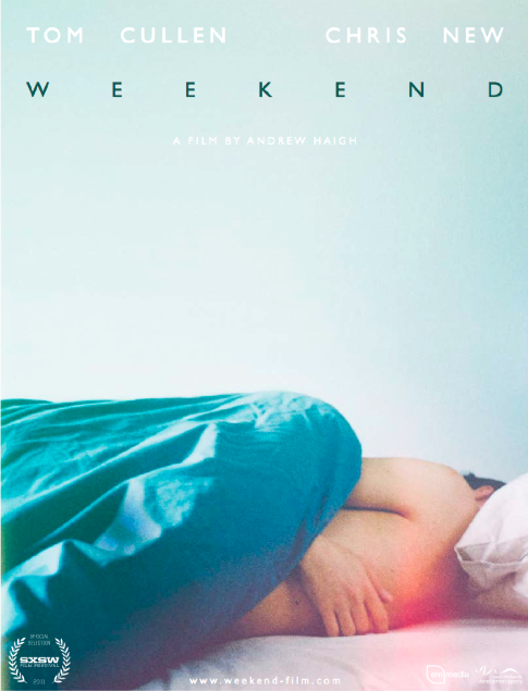 danielextra:  Weekend's first movie poster, which like the movie, is beautiful. Photography by Quinnford & Scout. Design by Sam Ashby.  [via:chrisnewnet]    Hailed as the first endearing, high quality, non-cliche film about gays, other than the aggressive-cowboy-sex one.  Anyone seen it yet?