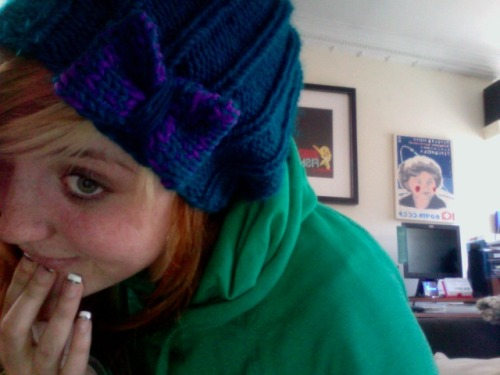 I had such a hard time mailing out Drex's hat.  I love it. It came out perfect.
