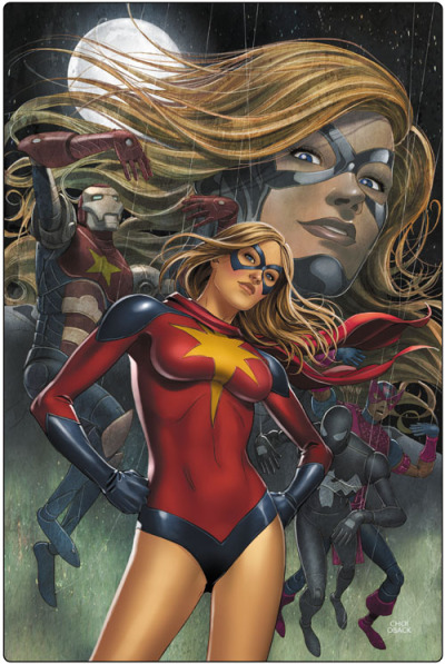 I liked the slight variation that Moonstone had with the original Ms.Marvel costume.
