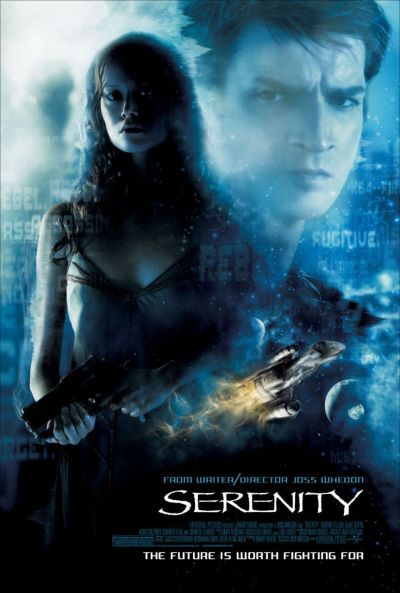 Serenity (8/10)A space opera with zombies? Need I say more? Joss Whedon's cult classic although cancelled series Firefly was given the opportunity to conclude itself in this awesome film of space bandits dodging the Alliance (the po-lice) while the Firefly class ship named Serenity had two high class fugitives- a young and brilliant trauma surgeon and his younger sister, a psychic. Because this movie concluded a series that seems like it should have had a running chance, it does feel rushed. But the production quality and the great acting especially by Nathan Fillion and Briton Chiwetel Ejiofor covet the fact.