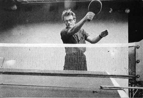 andrewharlow:  James Dean playing ping pong