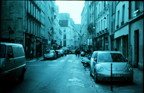 Rue Saint Paul, Paris | Shot with my grandfather's Mamiya Sekor 1000DTL and Revolog 600nm film.