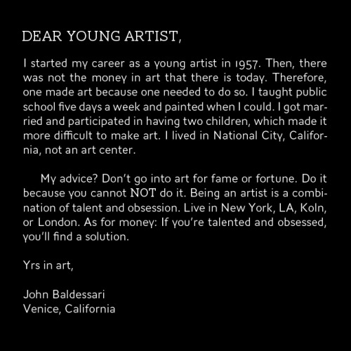 "From ""Letters To A Young Artist""."