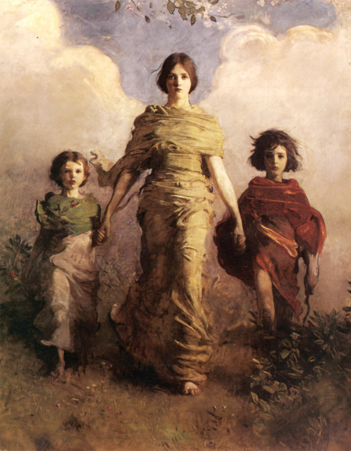A Virgin, Abbot Handerson Thayer. 1893