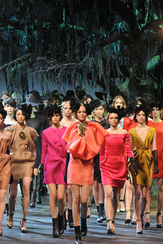 i love a stampede of models for a finale. lanvin fw11/12 collection.