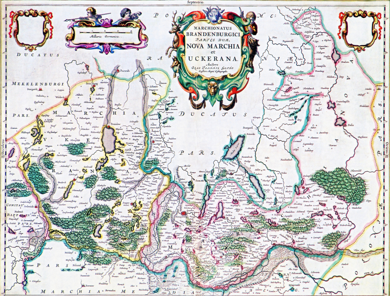 Joan Blaeu, 1662, Germany & Poland