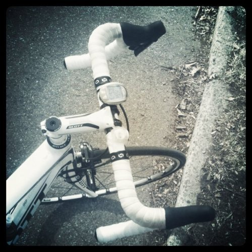 Dirty ass bar tape - end of Winter #cycling #BikeNYC (Taken with instagram)