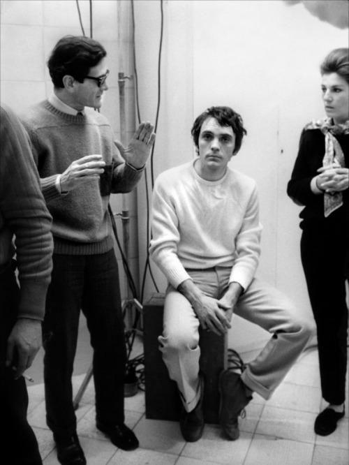 lepoinconneurdeslilas:  Pier Paolo Pasolini & Terence Stamp  On the set of Teorema