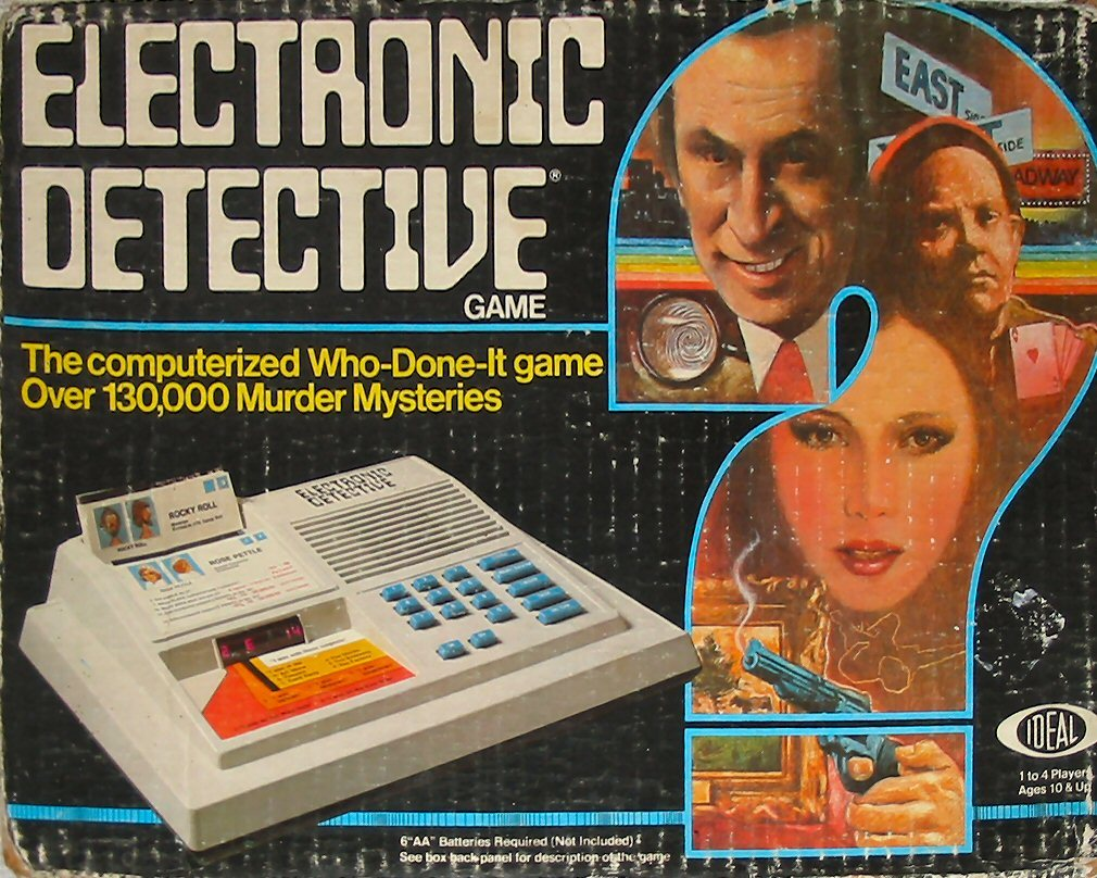 Electronic Detective | Ideal | 1979 I've got this game, though at the time never understood how to play it