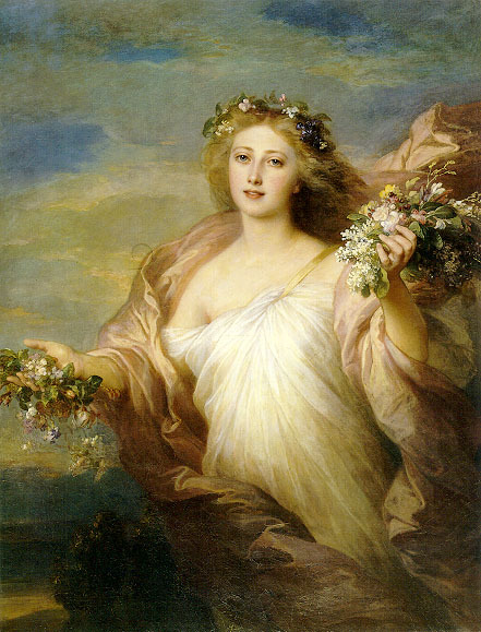 oddresonance: ca1850 Franz Xaver Winterhalter (German 1805-1873) ~ The Spring