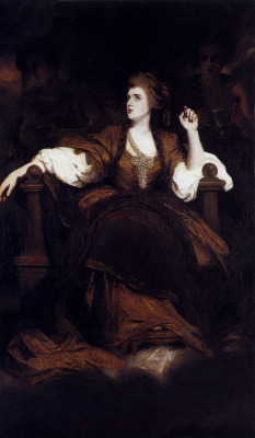 welovepaintings:  Joshua Reynolds (1723-1792)Portrait Of Mrs. Siddons As The Tragic MuseOil on canvas1784
