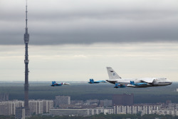 bzr:  224th Flight Unit, Antonov An-124, over Moscow