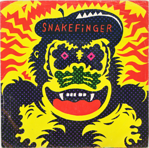 "Snakefinger - ""Kill the Great Raven"" / ""What Wilbur?"" 7"", Ralph Records, 1979. Cover art by Gary Panter."