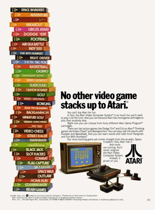 pacalin:  Retro Atari Ad: 1980 via: it8bit