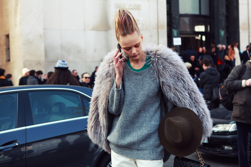 Frida Gustavsson after Haider Ackermann FW 2011 show