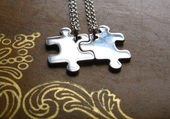 We Fit Together … Pair of Best Friend Puzzle Piece Necklaces ($59/£37)Cosmic Girl