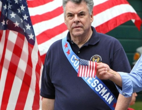 "Rep. Peter King's radical Islam hearing not exactly winning him fans First off, this is a spectacular photo of Rep. Peter King. He's straight-up draped in America in this pic, and it's something that we must admire. Anyway, King (the chair of the Homeland Security committee) is planning these Congressional hearings about radical Islam  this week, and they have some people up in arms. For example, here's Rep. Keith Ellison, a Muslim himself who showed up on CNN's ""State of the Union"" with King: ""It's absolutely the right thing to do for the chairman of the Homeland Security Committee to investigate radicalization. But to say we're going to investigate a — a religious minority, and a particular one, I think is the wrong course of action to take."" King claims that radical Islam poses a graver threat than other types of radicalism. source Follow ShortFormBlog"