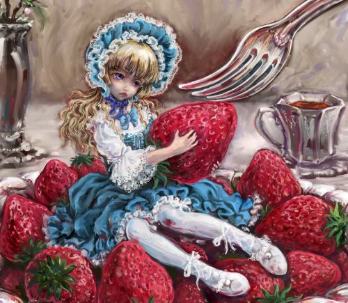 I wouldn't give the strawberry! >3<