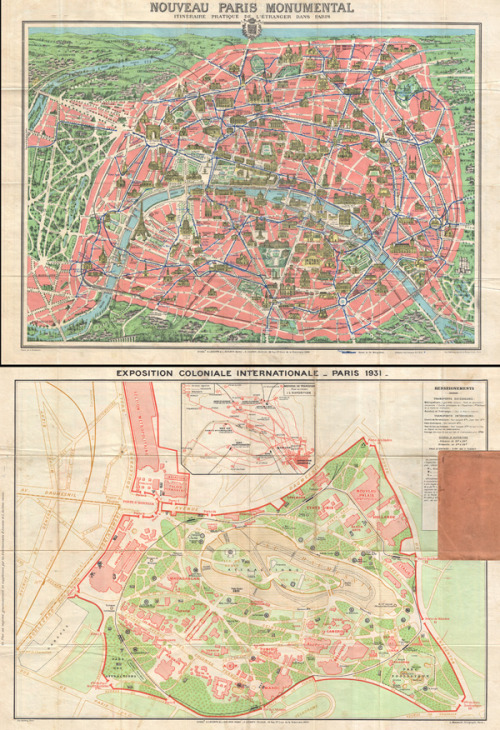 cartographymaps:  A. Leconte, 1931, Paris, France  Click here to zoom in.  Paris // Vincennes