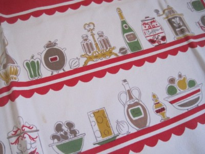 Vintage Pantry Tablecloth from NeatoKeen on etsy