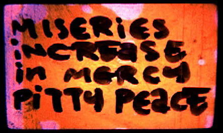 "Screen shot from "" Miseries Increase In Mercy Pity Peace "", short film, super16, in post production. Directed by Syni Pappa."