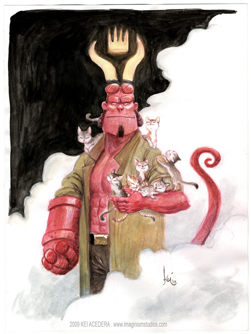 Hellboy by Kei Acedera I just cued up 70 posts for the next month. Night night.