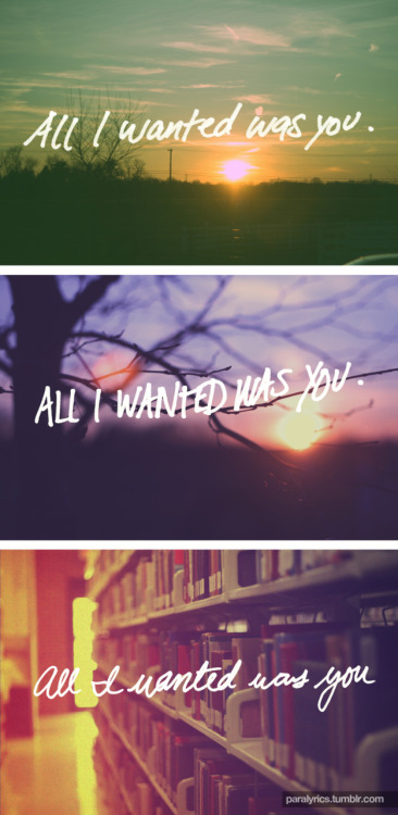 -All I Wanted Paramore