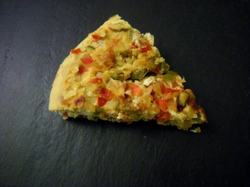 "M thought this vegetable tortilla would ""be like a Western omelette without the ham"" based on the recipe. In actuality, it was an eggy delight of caramelized veggies and sweetness. It's so much fucking better than a goddman Western omelette. In sum: Spanish tortilla > French omelette."