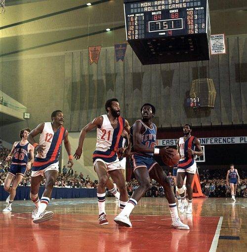 Hall of Swag: The Dopest Basketball Photos Ever  Earl Monroe looks for daylight during a game against Baltimore. (1973)  [Image & Caption Source: S.I. Vaults]
