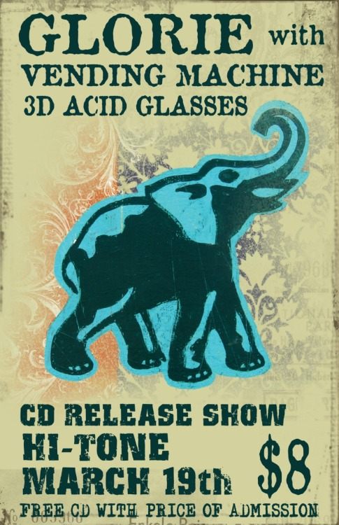 March 19th Cd Release Show Memphis, TN @ The Hi-Tone with Vending Machine and 3D Acid Glasses